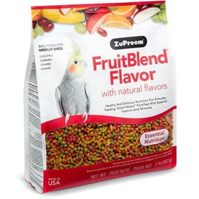 ZUPREEM FRUITBLEND FLAVOR FOR MEDIUM SIZE BIRDS 2LB