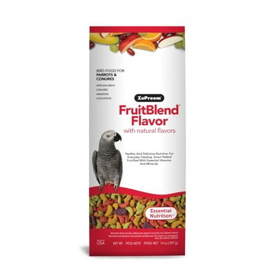 ZUPREEM FRUITBLEND FLAVOR MEDIUM & LARGE PARROT FOOD 0.875LB (397G)