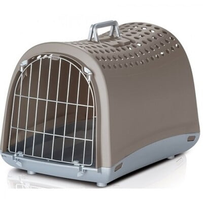 IMAC Travel Crate Linus Pet Carrier- 50x32x34.5 CM (BEIGE) (80480)