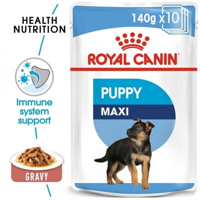 Royal Canin Wet Food SHN Maxi Puppy 10x140G(pouches)