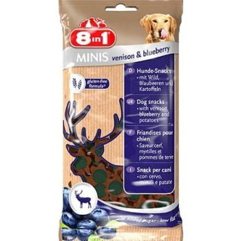 8in1 Minis Moist Venison & Blueberry 100g DOG TREAT