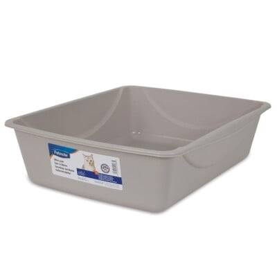 PETMATE LITTER PAN MEDIUM ~ MOUSE GRAY
