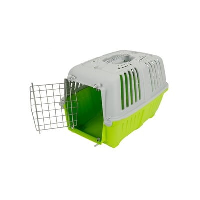 TRAVEL CRATE MPS2 PRATIKO 1 METAL L48XW31.5XH33 - SMALL LIME GREEN