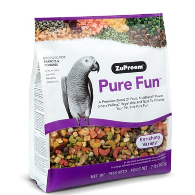 ZUPREEM PURE FUN PARROTS & CONURES 2 LB (Bird Food)