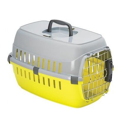 MODERNA TRAVEL CRATE ROAD RUNNER DELUX WITH IATA LOCK LEMON (T203)