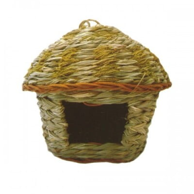 PADO HOUSE FOR LARGE BIRDS(REED+CATNIP)25X25X25CM