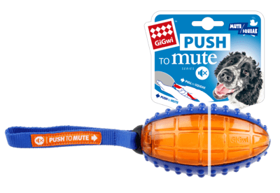 "Gigwi Push To Mute"" Rugby Ball Blue/Orange Solid/Transparent"