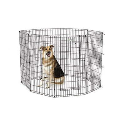 "Midwest Homes 48"" Black Exercise Pen With Full MAX Lock Door"