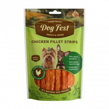Dog Fest Chicken fillet strips for mini-dogs - 55g (1.94oz) TREAT
