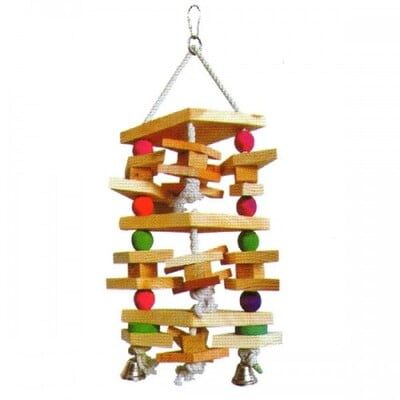 PADO HANGING TOY FOR LARGE BIRDS W/BELLS 40X22CM